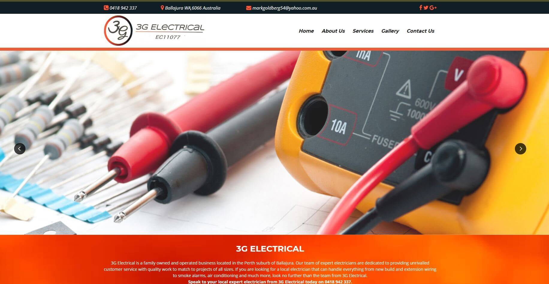 3g electrical electricians in perth
