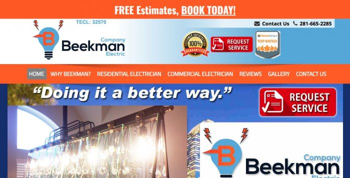 Beekmanco Electric Electrician Houston