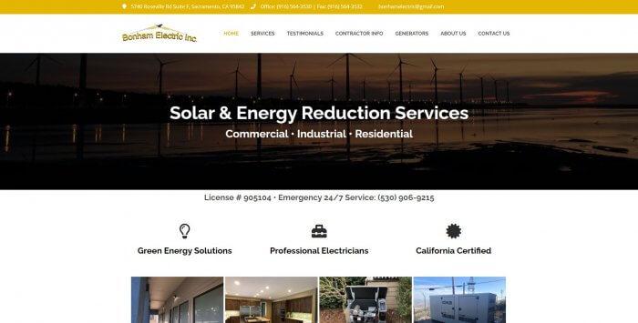 Bonham Electric Inc Electrician In Sacramento