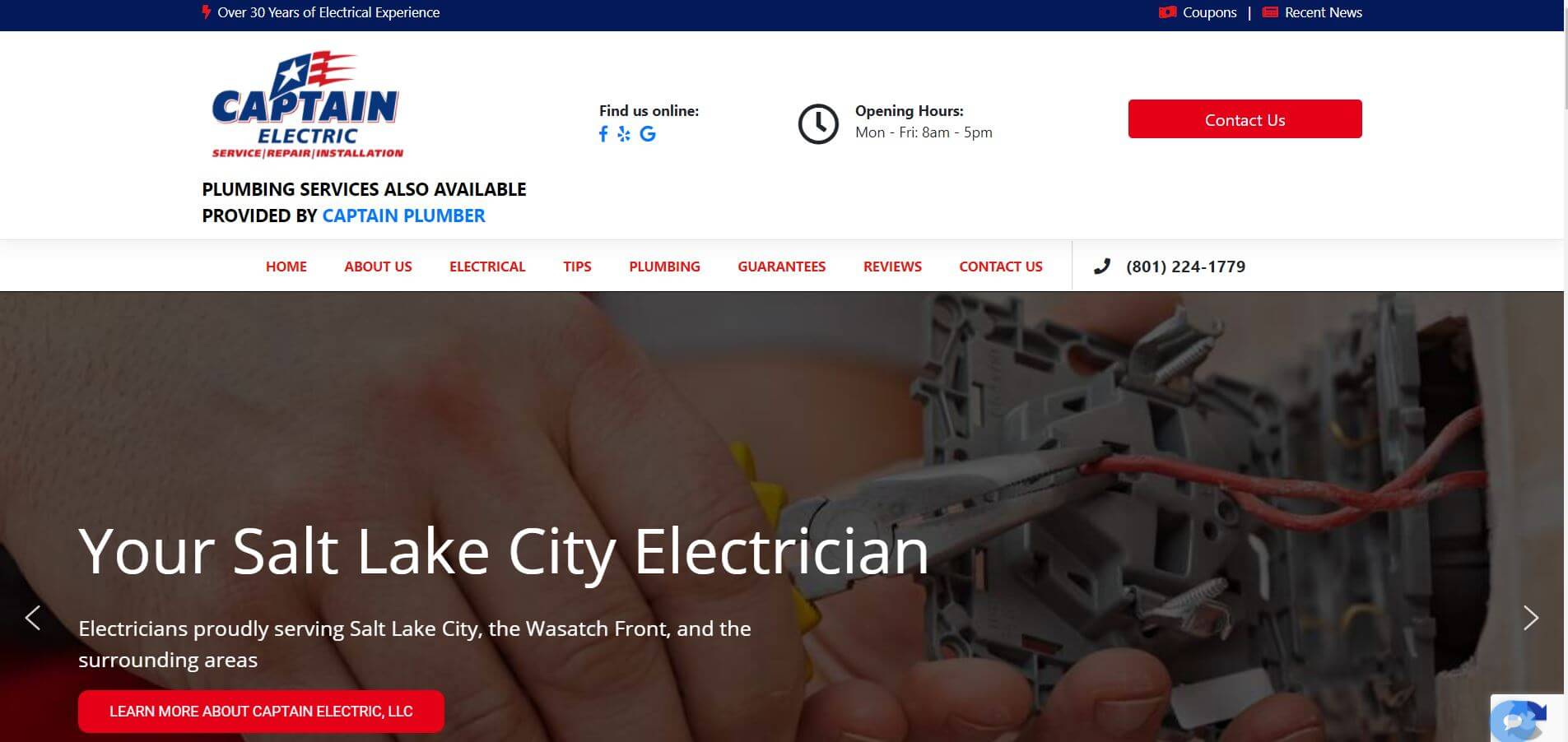 captain electric electrician in salt lake city
