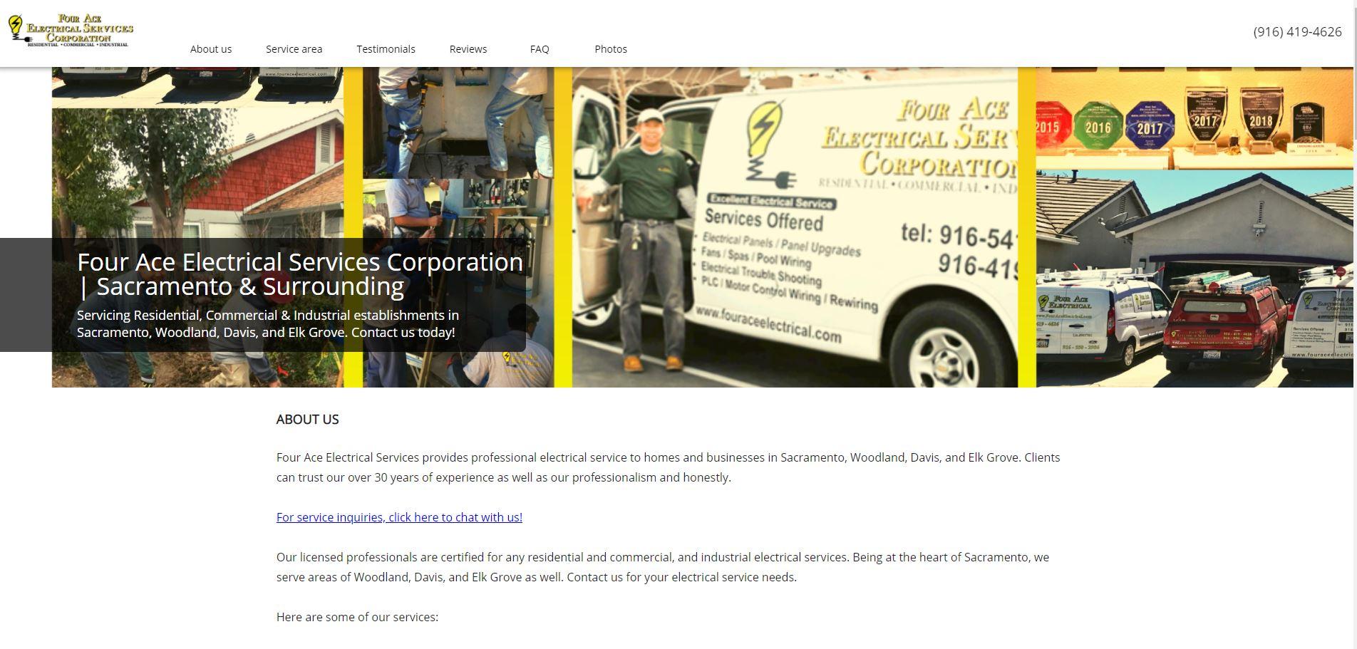 four ace electrical services electrician in sacramento 1