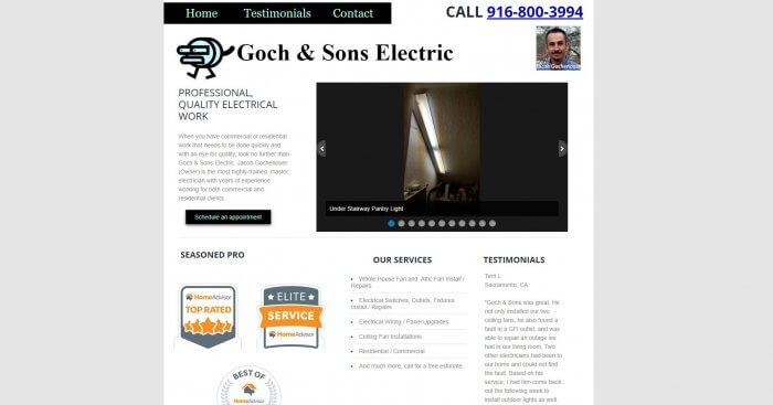 Goch And Sons Electric Electrician In Sacramento