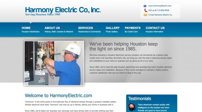 Harmony Electric Electrician Houston