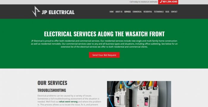 Jp Electric Electrician In Salt Lake City