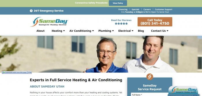 Sameday Heating And Air Inc Electrician Salt Late City