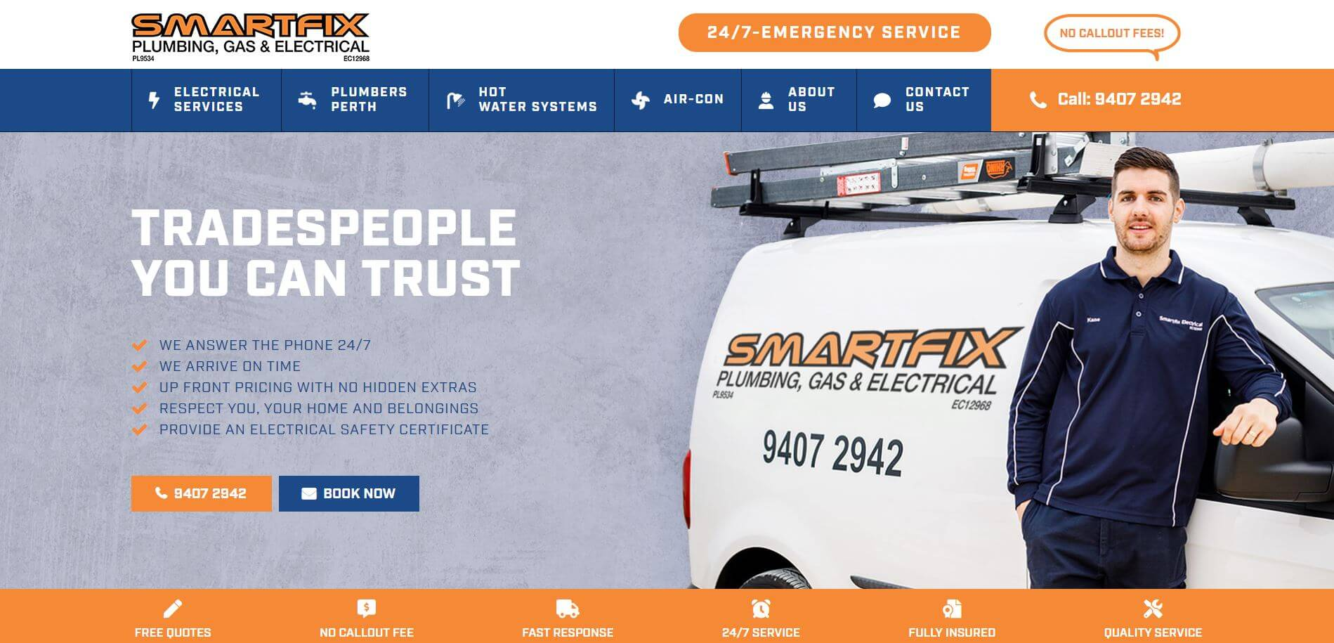 smartfix plumbing gas and electrical electricians in perth