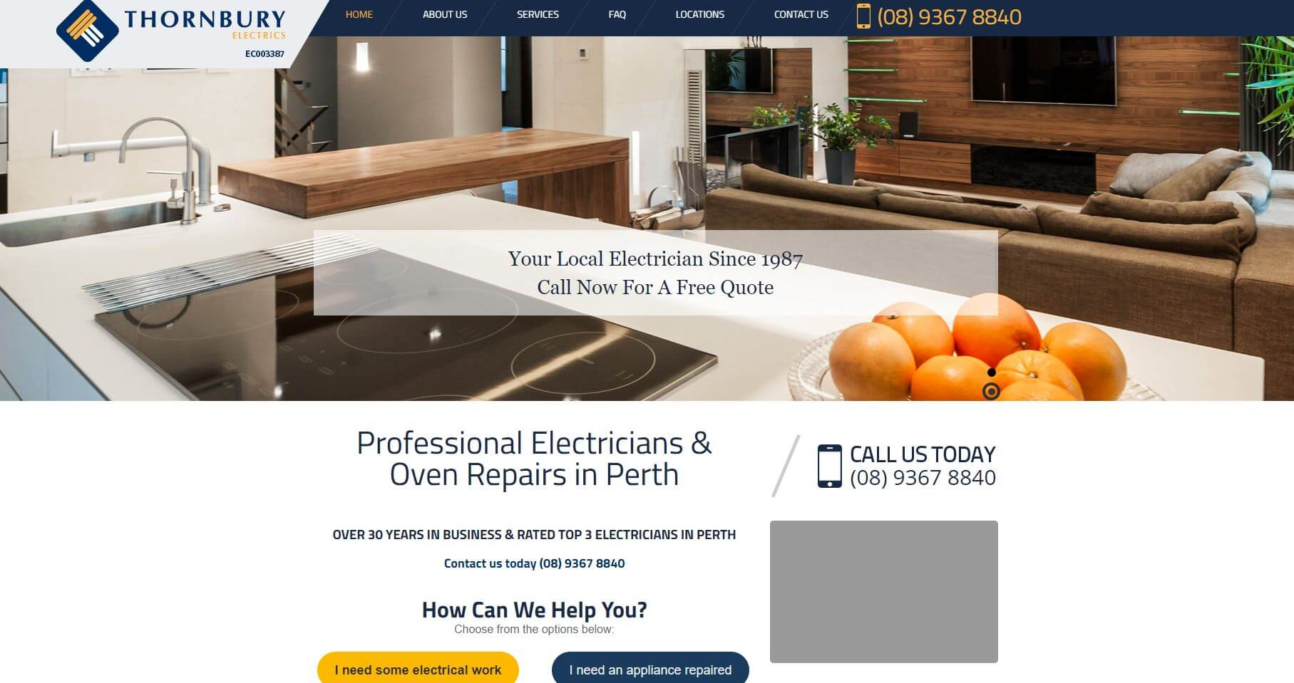 thornbury electrics electricians in perth