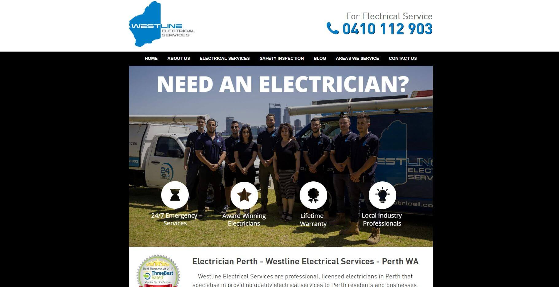 westline electrical services electricians in perth