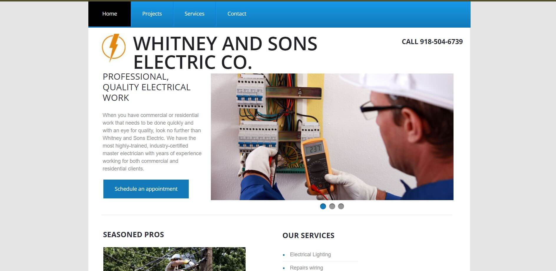 whitneyt and sons electric electrician in tulsa