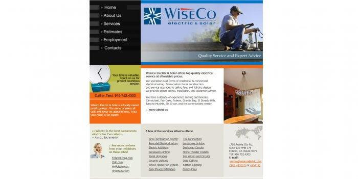 Wise Co Electrician In Sacramento