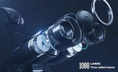 DanForce Head Torch Bright 1080 Lumens