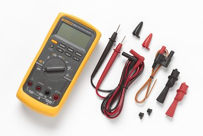 Fluke 87V HVAC True RMS Multimeter With Cable Leads