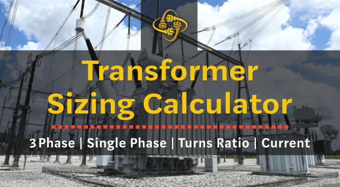 transformer sizing calculator